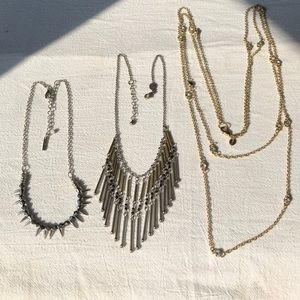 Steve Madden AEO express necklaces lot of 3 spike